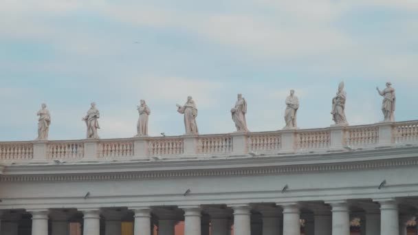 Saint Statues at St Peters Square in Vatican City