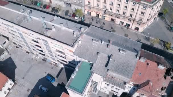 Letecký pohled na Záhřeb během karantény v důsledku pandemie covid-19
