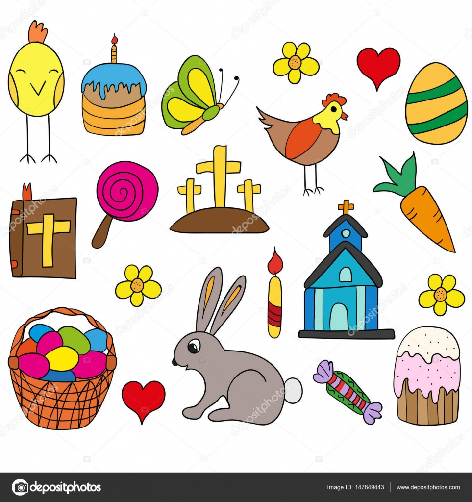 Symbole Ostern