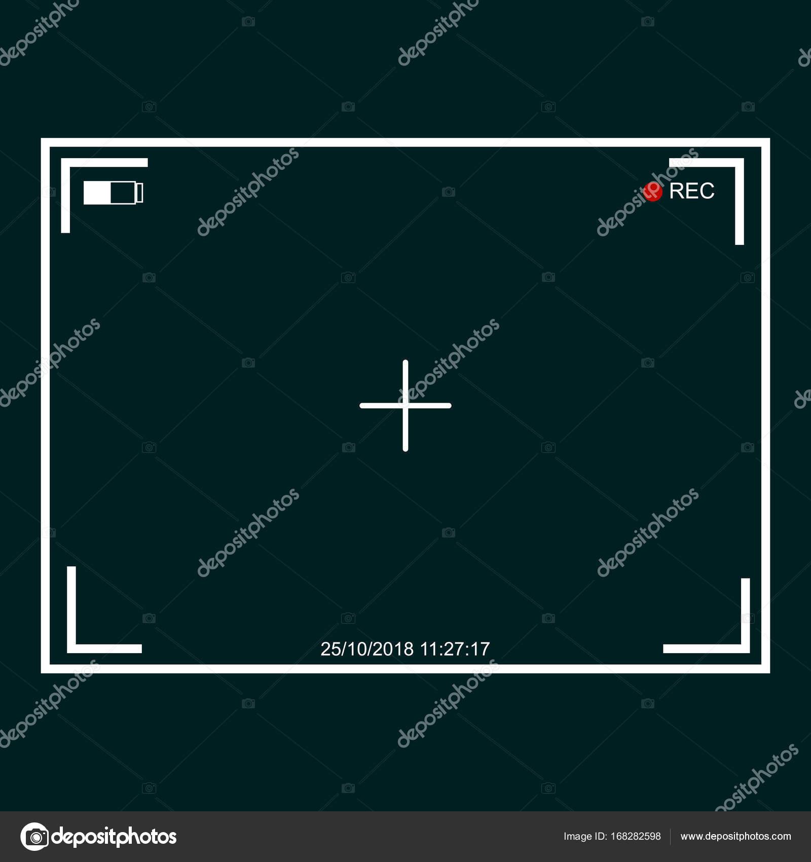 Cámara. El rodaje. pantalla. registro. para su diseño — Archivo ...