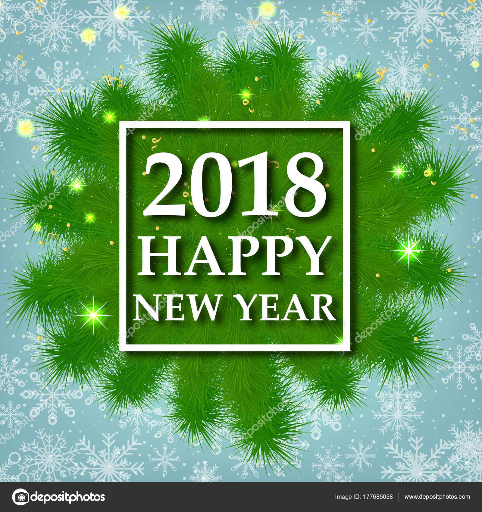 Neues Jahr Weihnachten 2018 Fest Urlaub Herzlichen Gluckwunsch