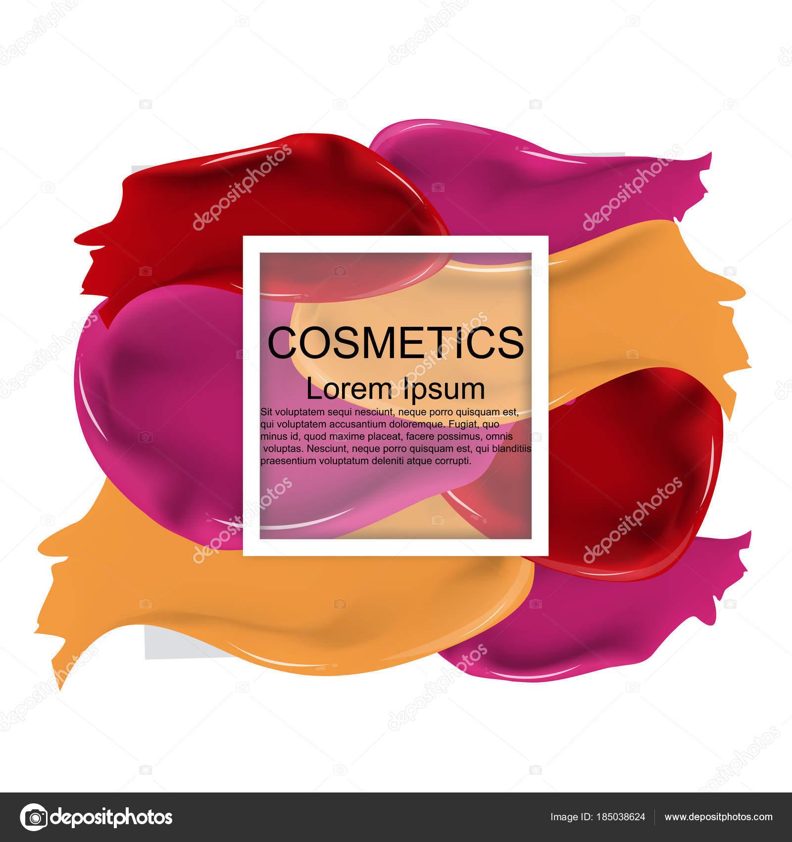 Kosmetik. Lippenstift. Abstrich. Track. Rahmen. Realistische. Hell ...
