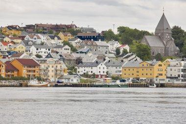 "Картина, постер, плакат, фотообои ""Норвегия. Кристиансунд гавань, цветные дома и церкви. Путешествия b"", артикул 125835930"