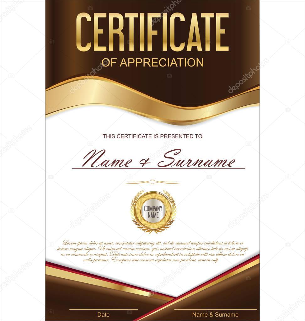 Luxus-Zeugnis oder Diplom-Vorlage — Stockvektor © totallyout #129228818