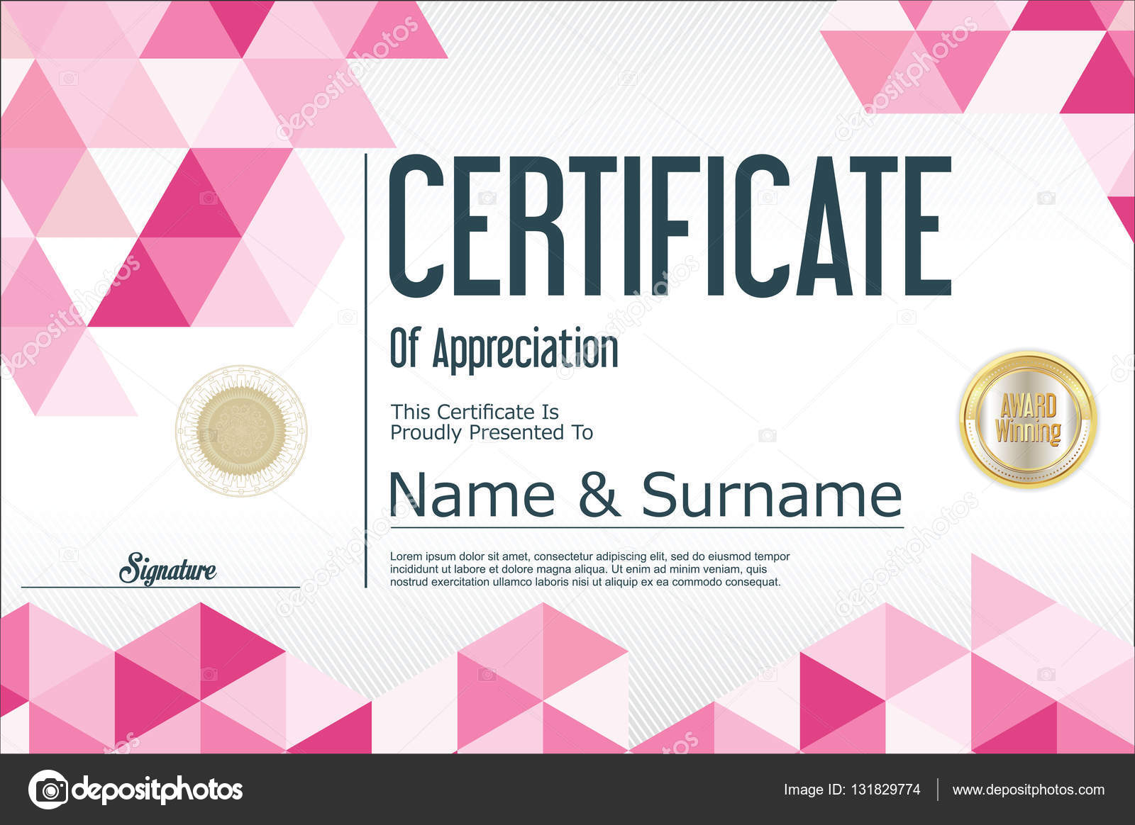 Zertifikat Vorlage abstrakte geometrische Design-Hintergrund ...