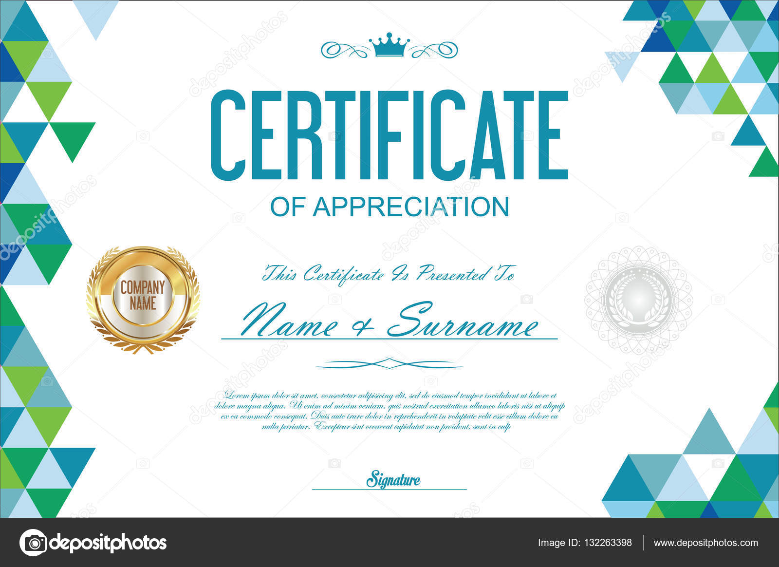 Certificate template abstract geometric design background stock certificate template abstract geometric design background stock vector yadclub Choice Image