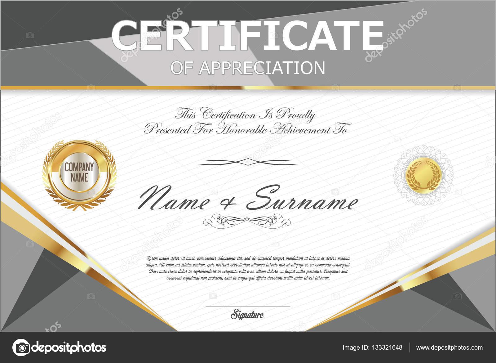 Certificate Retro Design Template Stock Vector Totallyout 133321648