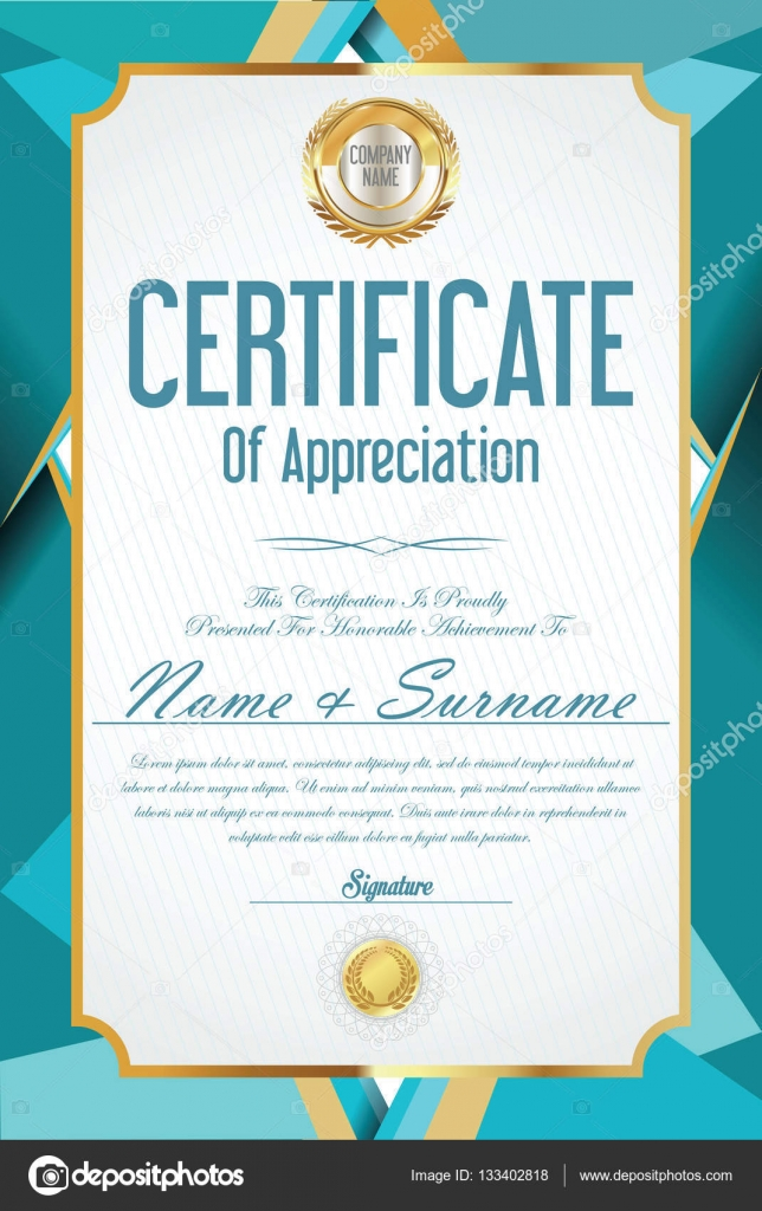 Certificate Retro Design Template Stock Vector Totallyout 133402818