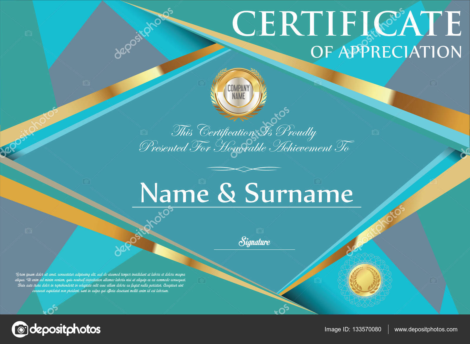 Retro-Design Zertifikatvorlage — Stockvektor © totallyout #133570080