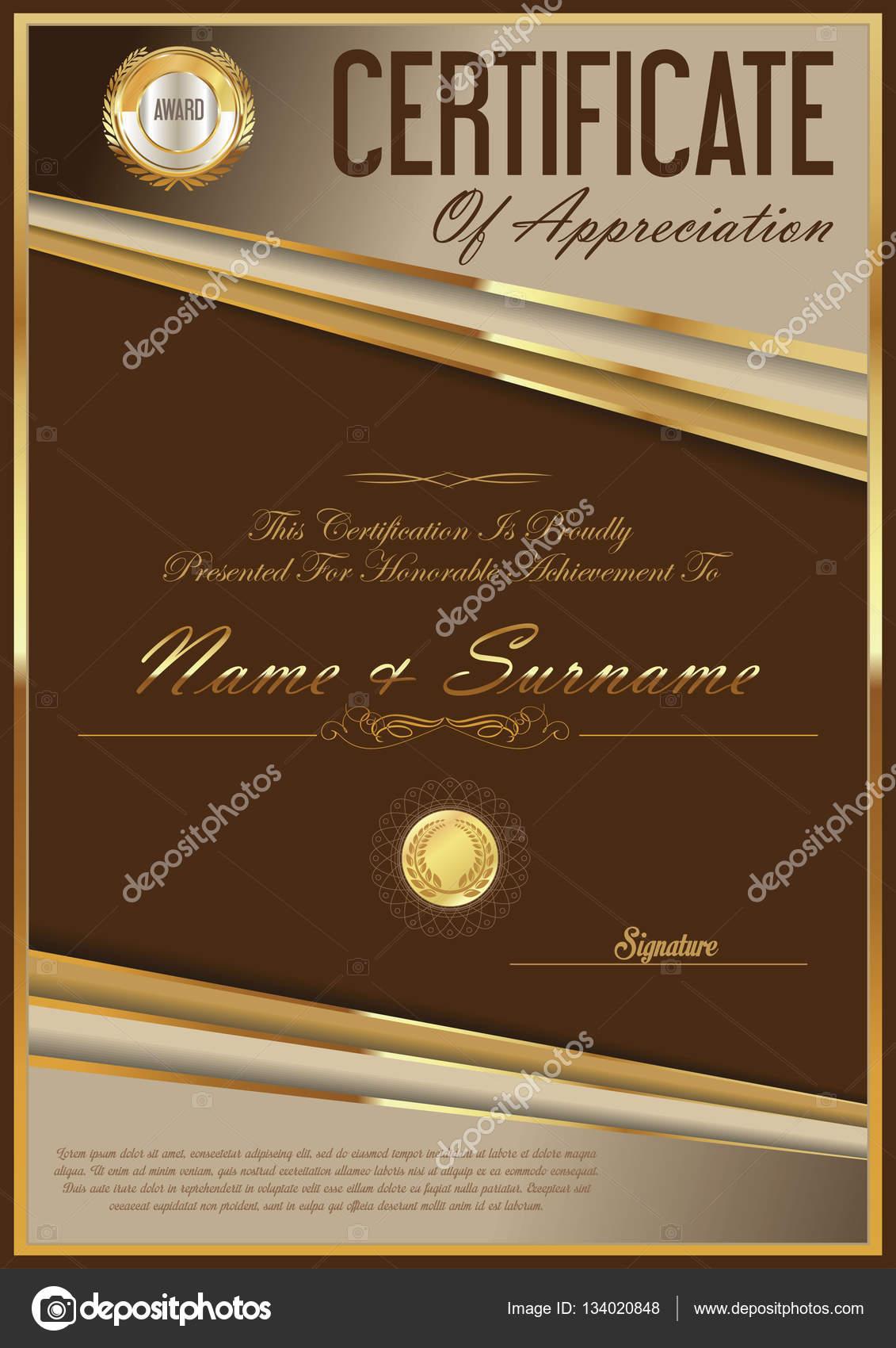 Certificate Retro Design Template Stock Vector Totallyout 134020848