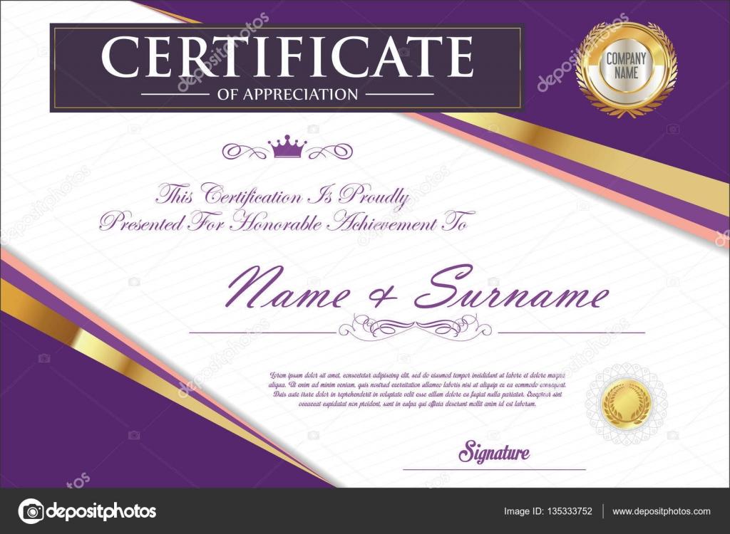 Certificate Retro Design Template Stock Vector Totallyout 135333752