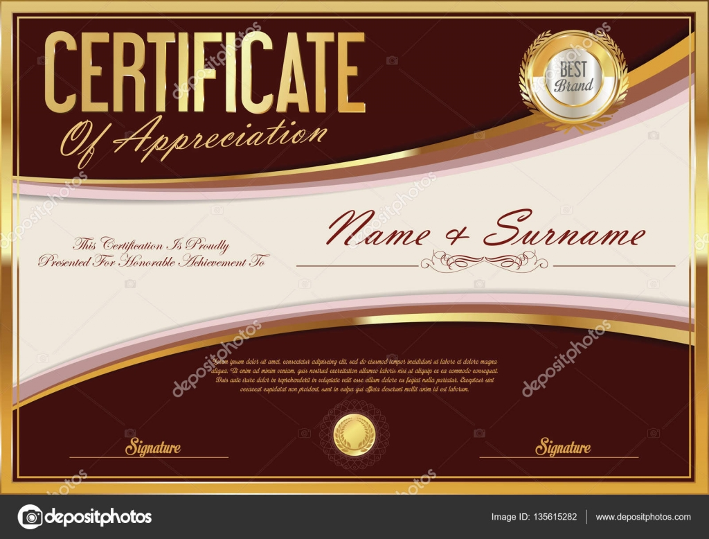 Certificate Template Retro Design Stock Vector Totallyout 135615282