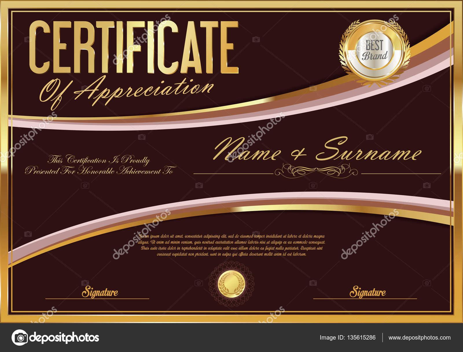 Zertifikat-Vorlage-retro-design — Stockvektor © totallyout #135615286