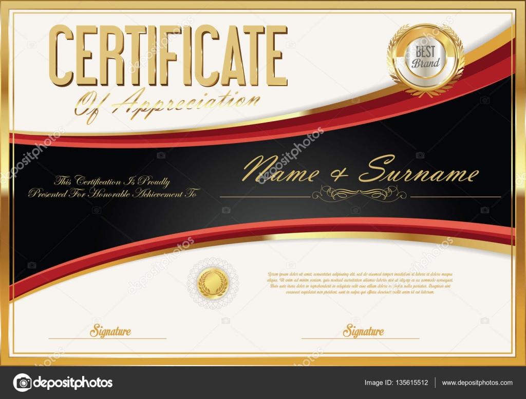 Zertifikat-Vorlage-retro-design — Stockvektor © totallyout #135615512