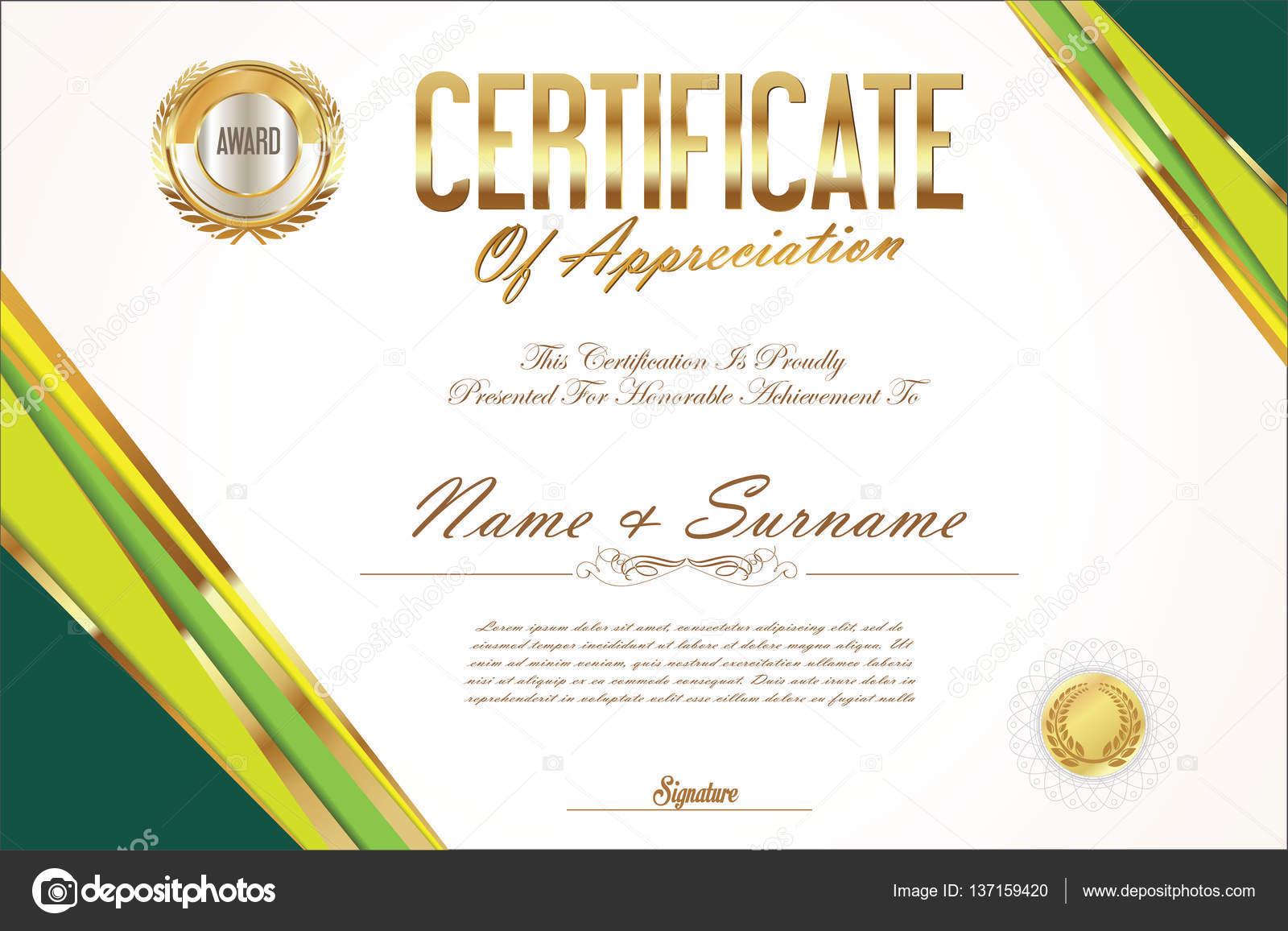 Zertifikat-Vorlage-retro-design — Stockvektor © totallyout #137159420