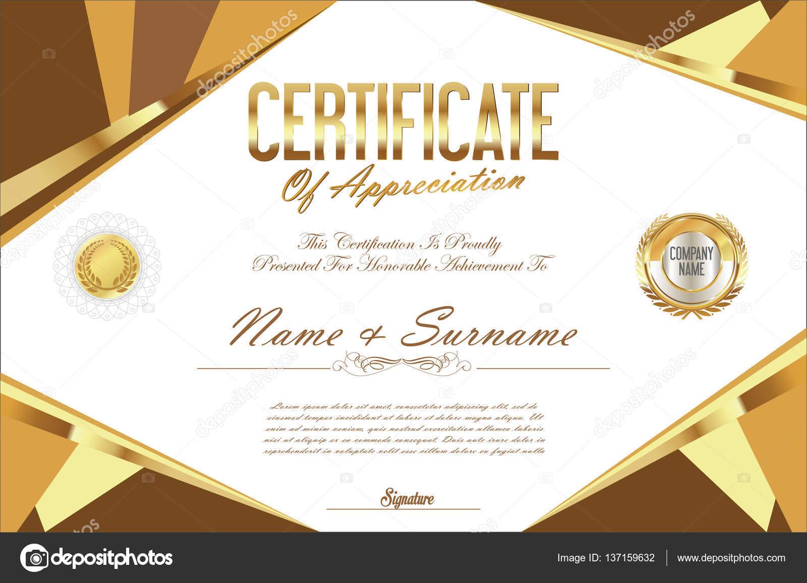 Zertifikat-Vorlage-retro-design — Stockvektor © totallyout #137159632