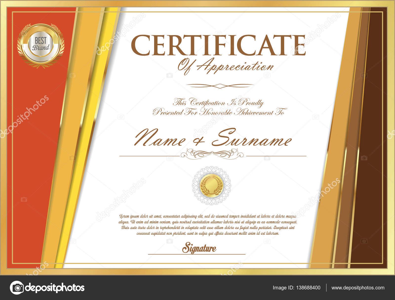 Certificate Retro Design Template Stock Vector Totallyout 138688400