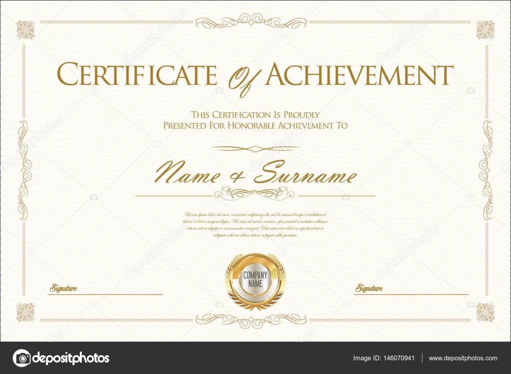 Certificado de logro o diploma plantilla — Vector de stock ...