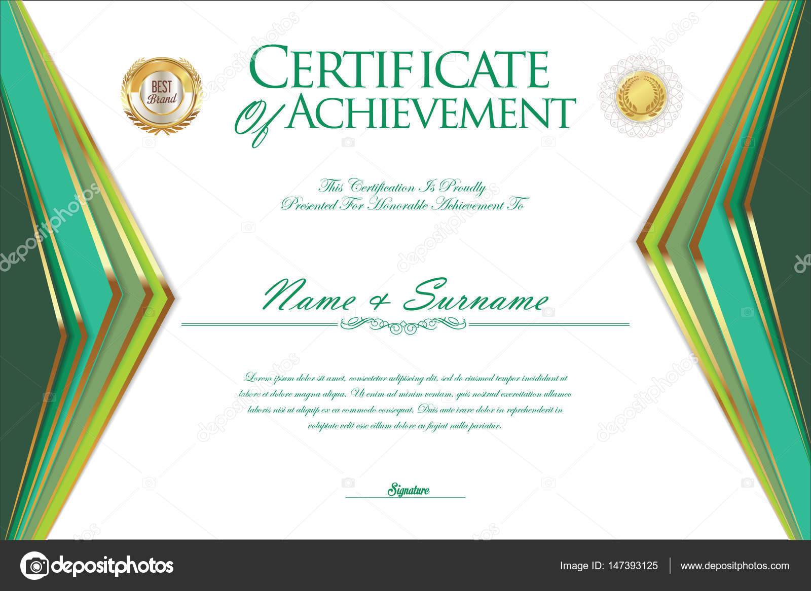 Certificate Or Diploma Design Template Stock Vector Totallyout