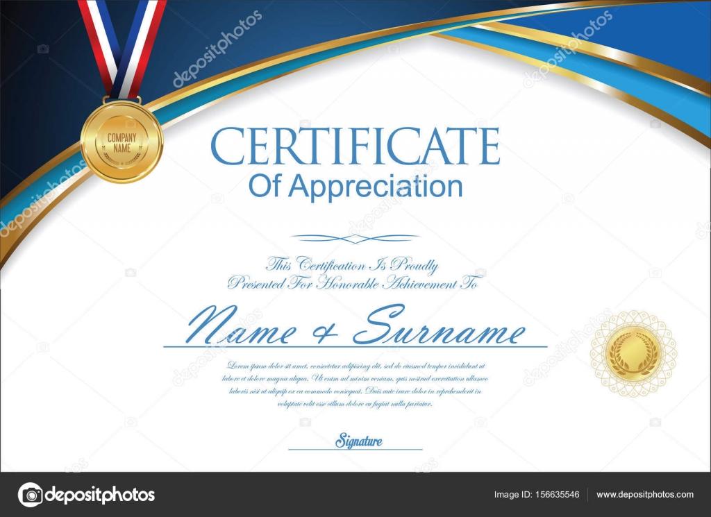 Certificate Or Diploma Retro Design Stock Vector Totallyout