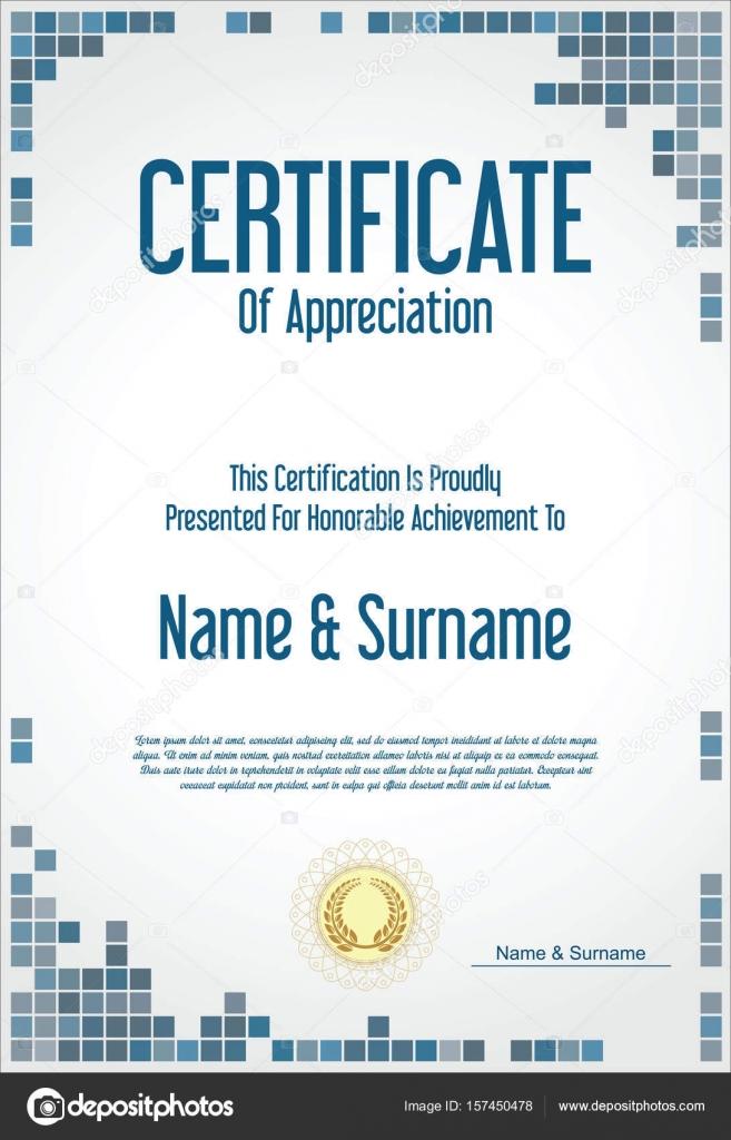 certificate or diploma modern design template stock vector