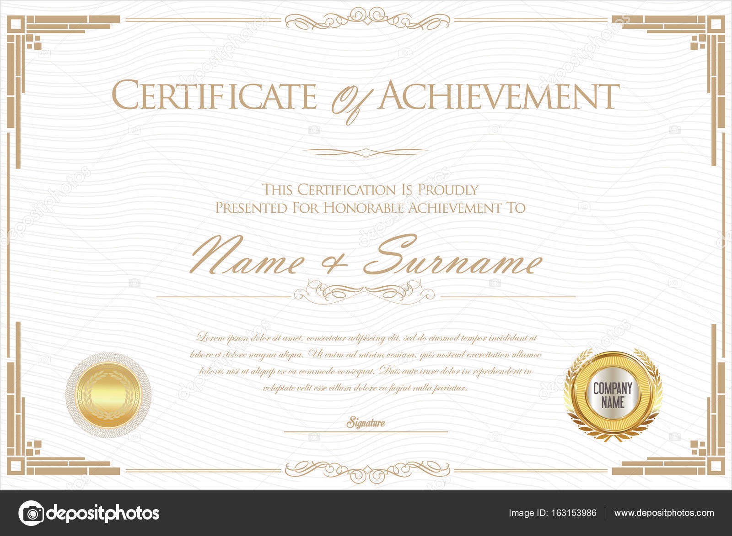 Zertifikat oder Diplom-Retro-Design-Vorlage — Stockvektor ...