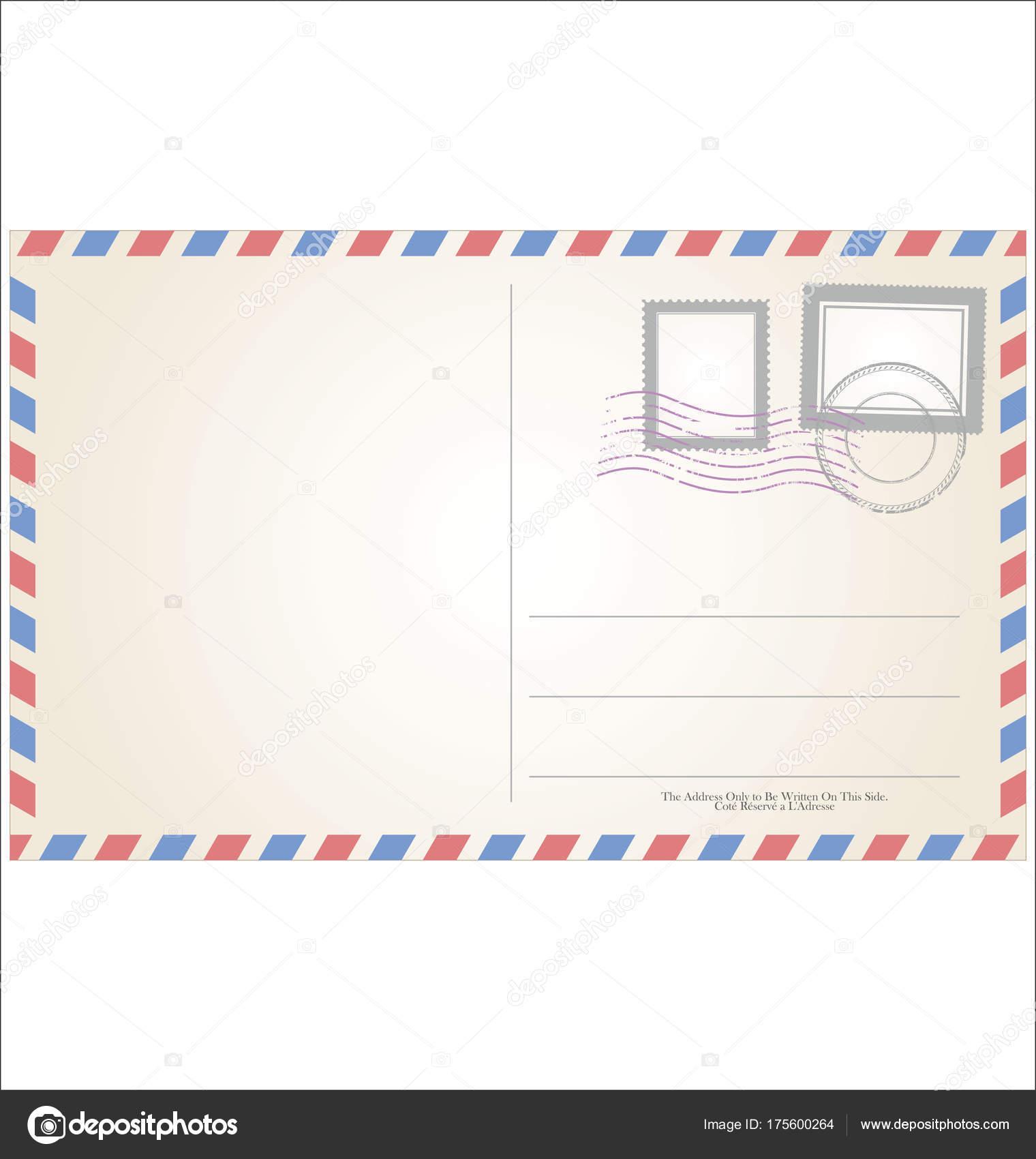 Postkarte Vorlage Vektor Illustration — Stockvektor © totallyout ...
