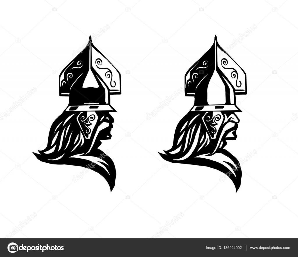 Warrior head of barbarian profile of warrior stock vector warrior head of barbarian profile of warrior stock vector biocorpaavc Gallery