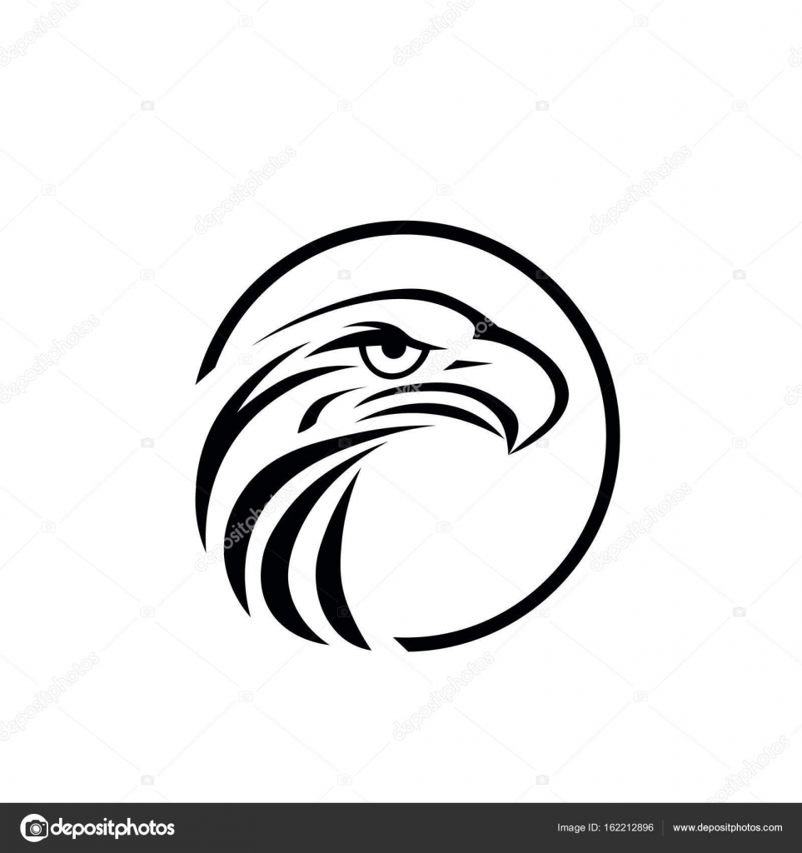 Eagle vector logo template stock vector dikiykachap1 162212896 eagle icon symbol of eagle hawk predator for sport team mascot company badge guard service hunting club label vector by dikiykachap1 biocorpaavc Images
