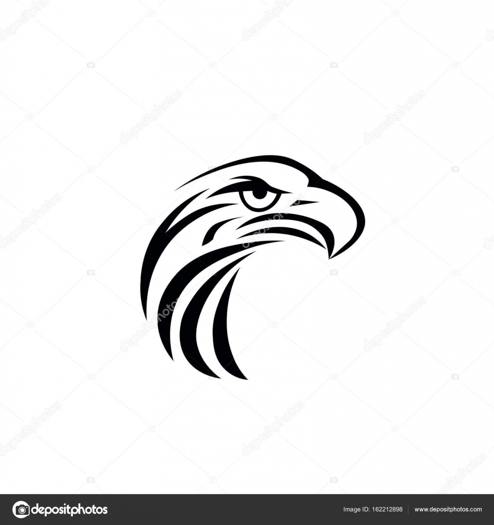 Eagle vector logo template stock vector dikiykachap1 162212898 eagle icon symbol of eagle hawk predator for sport team mascot company badge guard service hunting club label vector by dikiykachap1 biocorpaavc Images