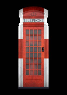 British Phone Booth K2 from 1924 - 3D Rendering - isolated - England