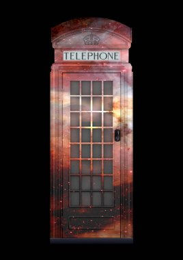 British Phone Booth K2 from 1924 - 3D Rendering - isolated - spacelook