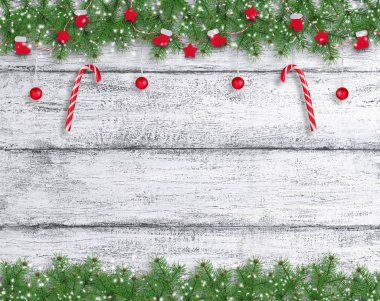 Christmas background in vintage style with New Year lollipops