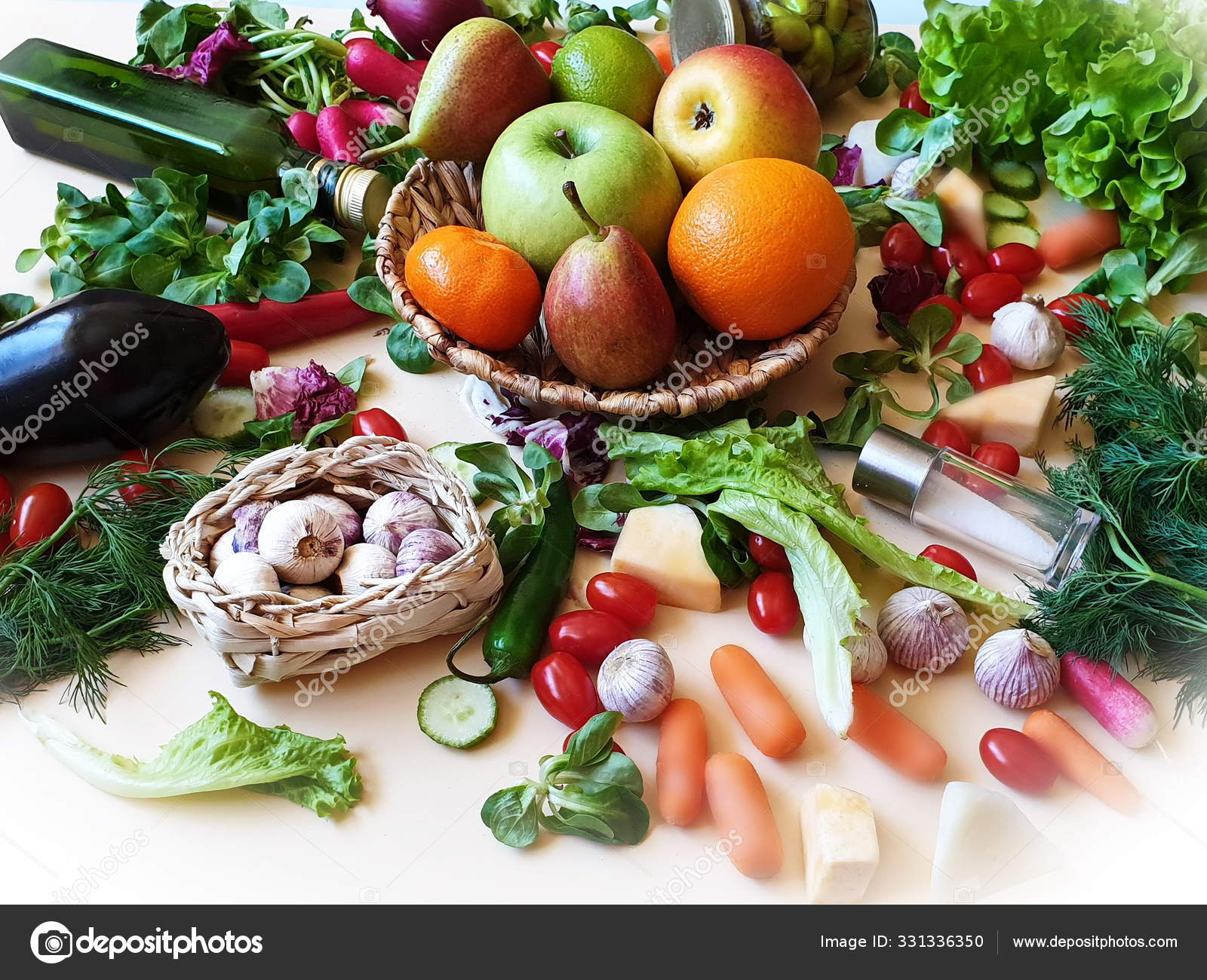 Овощи Фрукты Натюрморт Красный Паприка Зеленый Оливковый ...
