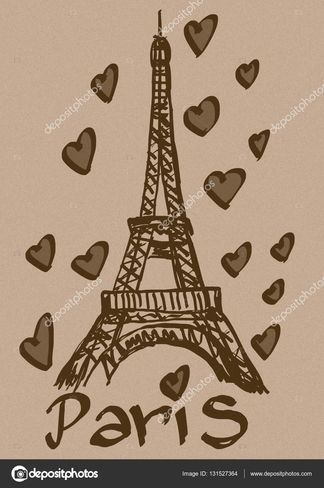 Liebe Paris Vintage Stockfoto Logan81 131527364