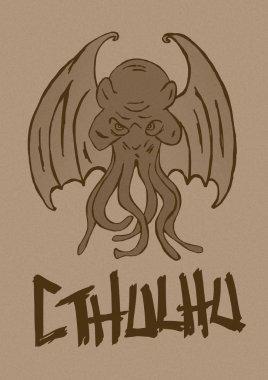 Cthulhu monster vintage