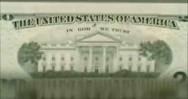 Loopable: Machine Flips Twenty Dollar Bills With Caption United States Of