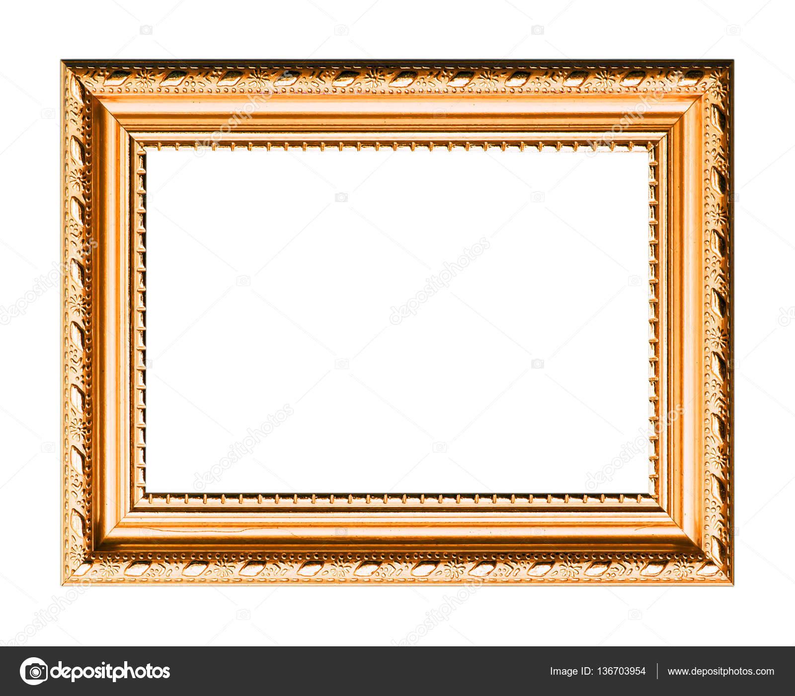 marco para pintura o imagen aislado sobre fondo blanco — Fotos de ...