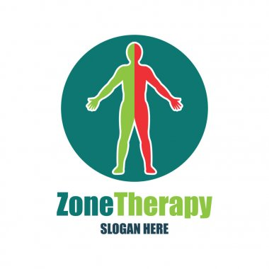 reflexology, zone therapy logo with text space for your slogan / tagline, vector illustration