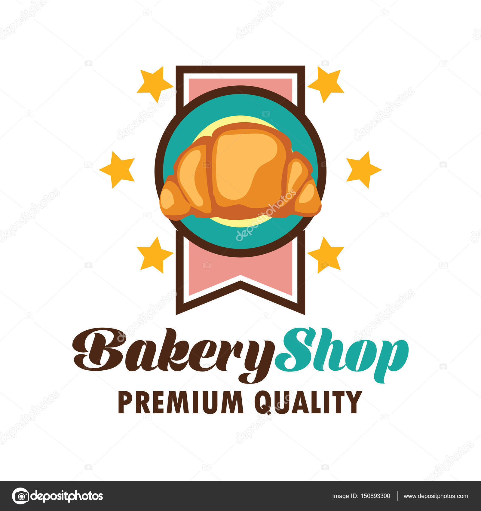 Bakery logo with text space for your slogan / tagline, vector