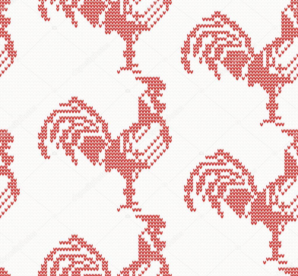 Patrón transparente punto de gallo en Color rojo — Archivo Imágenes ...