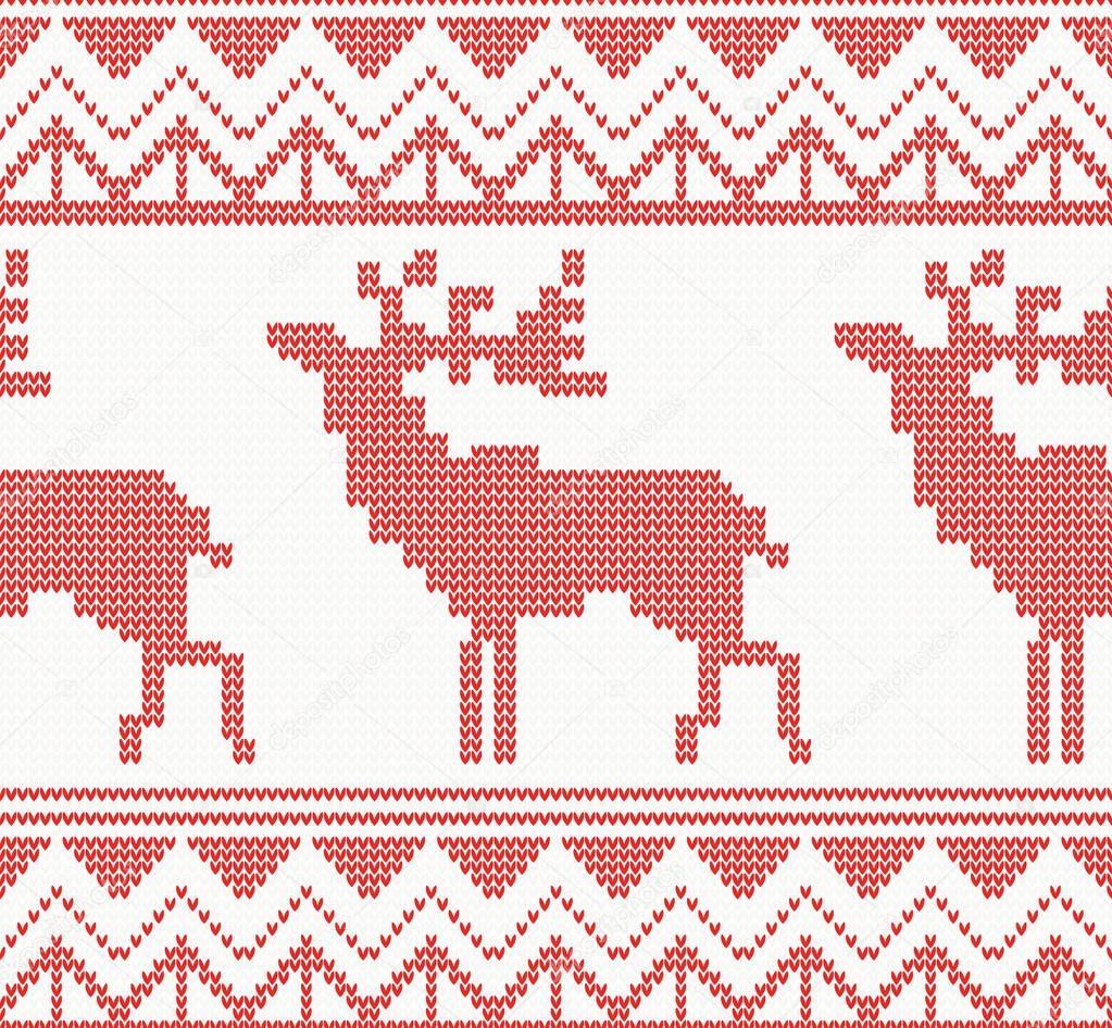 Ciervos punto patrón sin costuras en Color rojo — Vector de stock ...