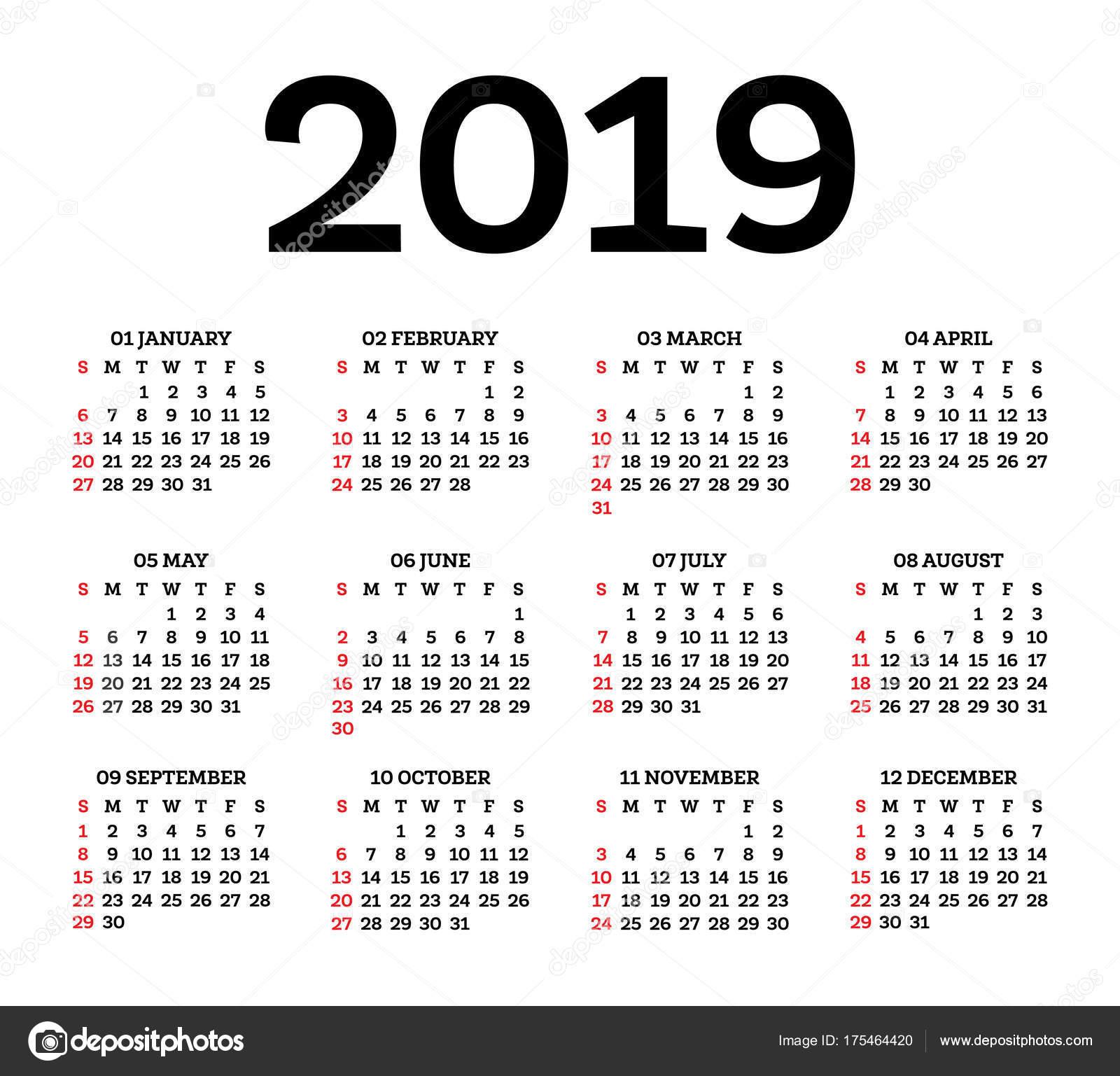 Calendario Numeros Grandes Septiembre 2019.Calendario 2019 Mas De 150 Plantillas Para Imprimir Y