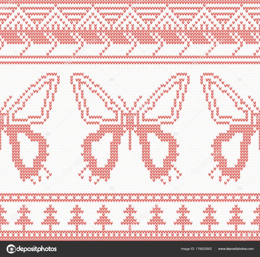 Punto mariposa patrón sin costuras en Color rojo — Vector de stock ...
