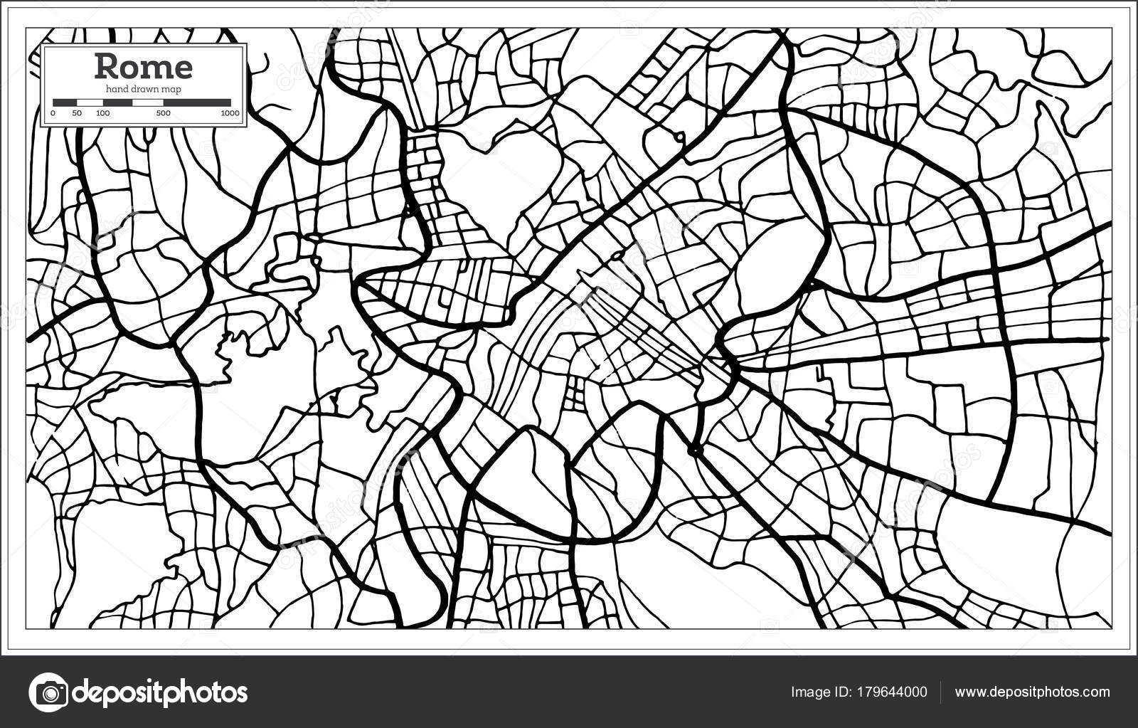 Rome italy city map in black and white color stock vector rome italy city map in black and white color stock vector altavistaventures Choice Image
