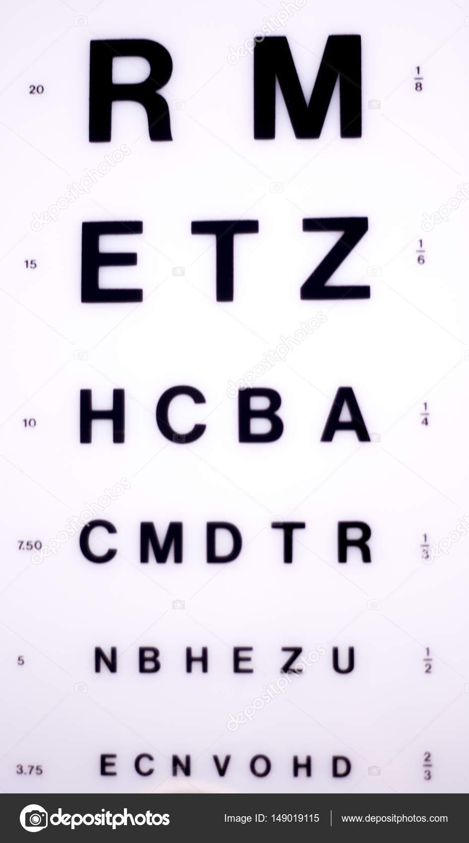 Optician Eye Test Chart Stock Photo Edwardolive 149019115