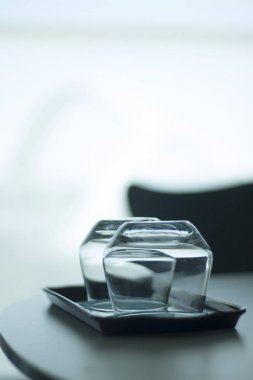 Luxury hotel bedroom glasses