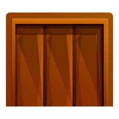 Big wood elevator icon, cartoon style