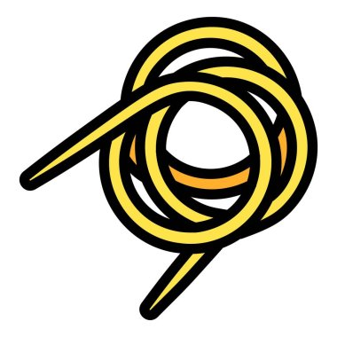 Bronze coil icon, outline style