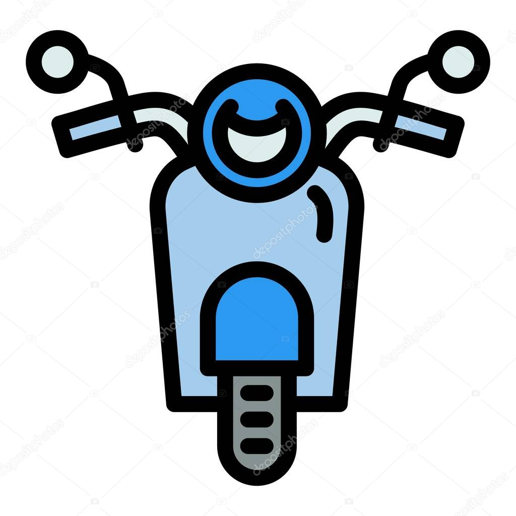 front view scooter icon outline front view scooter vector icon for web design isolated on white background premium vector in adobe illustrator ai ai format encapsulated postscript eps eps format wdrfree